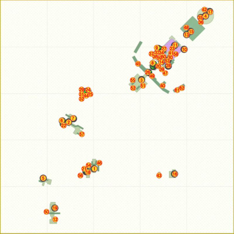 クッパ城パワームーンマップ