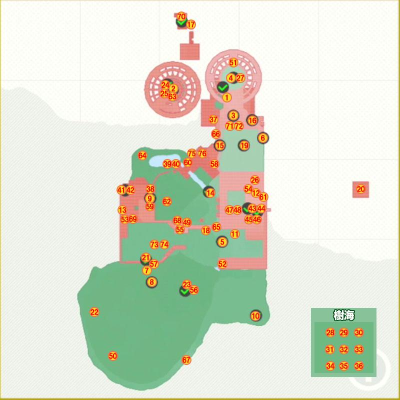 スチームガーデンパワームーンマップ